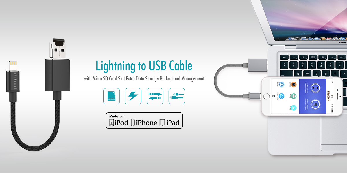 Lightning cable with key chain