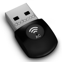 dodocool AC600 Dual Band Wireless USB Adapter Wi-Fi Dongle 2.4GHz 150Mbps or 5Ghz 433Mbps Support Windows XP/7/8/8.1/Linux/Max OS X 10.7-10.10