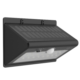 dodocool Solar Powered 520LM Ultra Bright 26 LED Wireless Security Wall Light with Motion and Light Sensor Auto On / Off Waterproof Outdoor Use 6500K Black