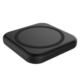 dodocool 10W Mini Fast Wireless Charger Portable Qi Wireless Charging Pad with 4.92ft / 1.5m Micro USB Cable for Samsung Galaxy S7 / S7 edge / Note 5 / S6 edge+ and other Qi-enabled Devices Black
