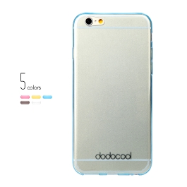 dodocool Ultra Thin Slim Clear Transparent Soft TPU Back Case Cover Skin Protective Shell for 4.7'' Apple iPhone 6 Gray