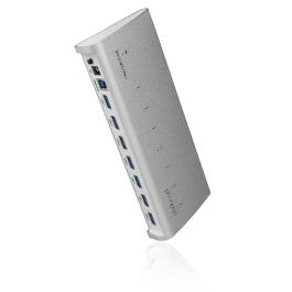 dodocool 7-Port USB 3.0 HUB for iMac Macbook Superspeed 5Gbps External AC Adapter
