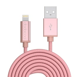 dodocool MFi Certified Braided Lightning to USB Charge and Sync Cable 10ft / 3m for iPhone 7 Plus / 7 / SE / 6s Plus / 6s / 6 Plus / 6 / 5 / 5s / 5c / iPad Air 1/2 / iPad Pro / iPad mini 1/2/3/4 / iPod touch 5th gen / nano 7th gen Rose Gold