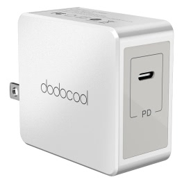 dodocool 30W USB Type-C Wall Charger Power Adapter with Power Delivery Foldable US Plug 3.3 Feet Type C Charging Cable for Apple New MacBook / USB-C PD Supported Devices White