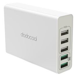 dodocool DA85 5-Port USB Power Adapter with Quick Charge 3.0