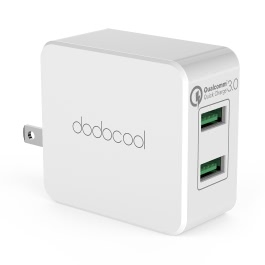 dodocool DA87 36W Quick Charge 3.0 2-Port USB Wall Charger